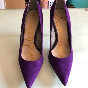 Sam Edelman Purple Suede Heels - size 9